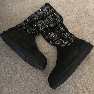Camaya Sequin UGG Boots Size 10
